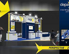 3D model Booth DEPA design size 6 X 6m 36sqm