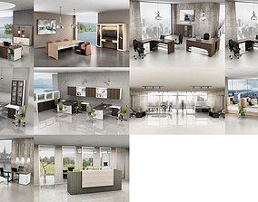 3D 10 Office Interior Pack Collection desktop