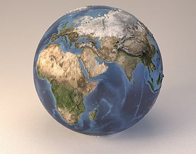 3D Earth globe embossed