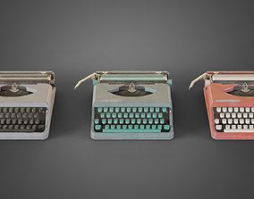 3D asset Used typewriter