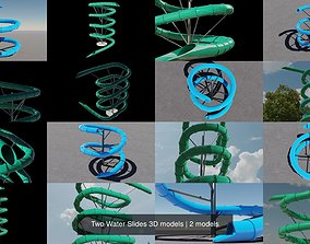 Two Water Slides 3D models ue4