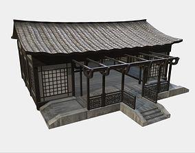 3D asset realtime Modular Asian Dojo