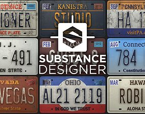 Licence Plate Substance Material 3D model