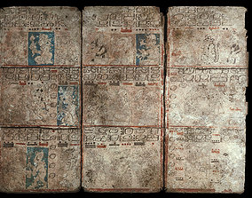3D asset Codex Mayan Low Poly PBR