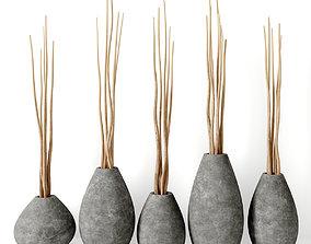 3D driftwood Vase concrete branch decor n5