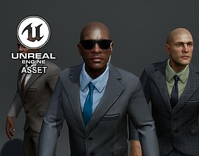 Special Agent 3D asset rigged