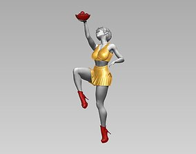Girl with Apple 3D print 3D model