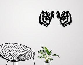 Tiger eyes wall decoration 3D printable model