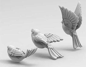 3D print model birds wings