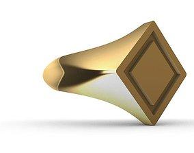 Signet men ring 3D printable model signetring