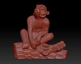 Monkey chimpanzee 3D printable model