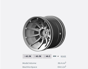 PRINT file for Turbine Styled rim RC Cars and Trucks