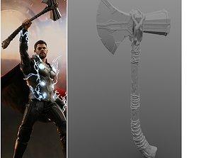 3D print model V2 Thor s Stormbreaker Hammer axe 3