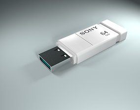 game-ready Realistic SONY Pendrive 3D model