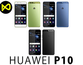3D model Huawei P10 All Colors