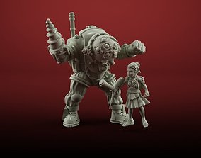 little sister with bigdaddy 3D printable model