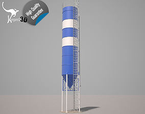 3D asset rigged Cement silo - 79 m3