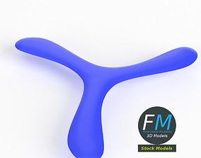Tri-blades boomerang 3D