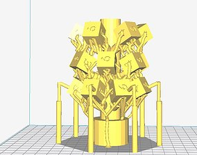 Sprue Tree of D6s for Lost PLA Casting 3D printable model