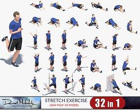 32 Stretch Animation 3d model Bundle animated