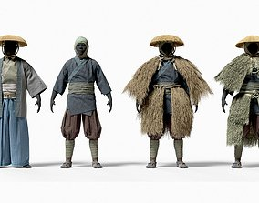 3D MEDIEVAL Japanese People