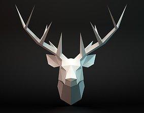 Deer head 3D asset game-ready