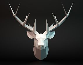 Deer head 3D asset game-ready