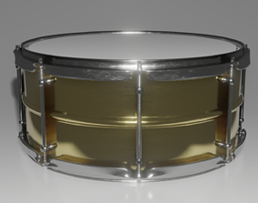 High Poly Snare Drum 3D model