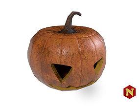 3D model VR / AR ready Pumpkin Halloween