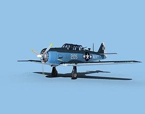 North American SNJ armed V01 US Navy 3D model