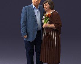 3D model Elderly couple 1001