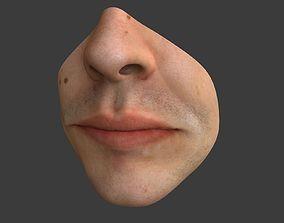 3D model Male Mouth
