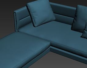 Contemporary Sofa indoors 3D
