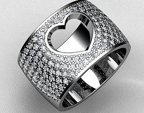 3D print model Heart Diamond Ring
