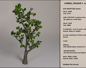 Low Poly Fantasy Game Tree 3D model