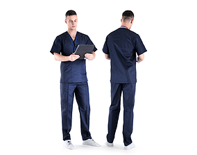 3D model Male surgical doctor 01