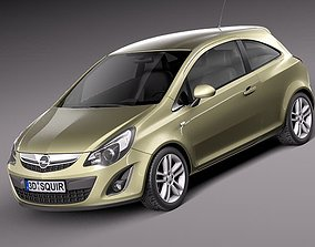 3D model Opel Corsa 3 door 2012