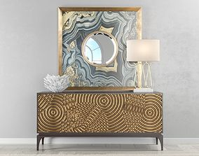 brass 3D John Richard Ripples Sideboard