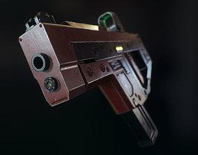 3D asset Gun SMG