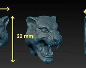 3D printable model panther head
