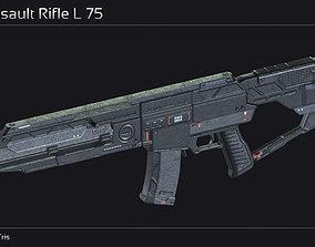 Scifi Assault Rifle L 75 3D model