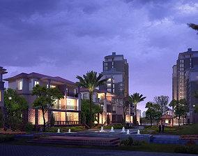 3D Tropical Cityscape
