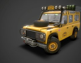 3D model Camel Trophy LandRover Defender 4 door