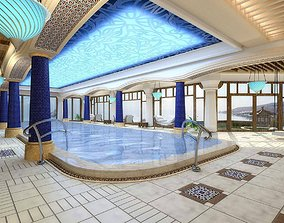 Swimming Pool Interior 2 3D model VR / AR ready