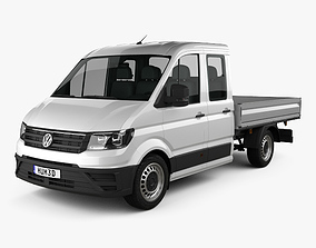 Volkswagen Crafter Double Cab Dropside 2017 3D