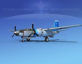 Douglas B-26C Invader V08 USAF 3D model