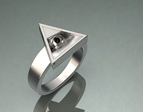 eye ring triangle 3D print model