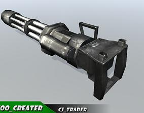 Vulcan Machine Gun Low-poly 3D model low-poly