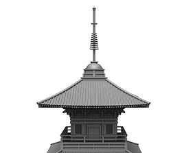 3D model Japanese Pagoda