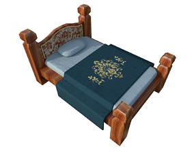 3D model Bed sleep